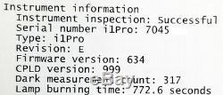 Efi Es-2000 I1 Pro X-rite Rev E E02-efi-ulzw Durée De Combustion De La Lampe 772.6 Secondes