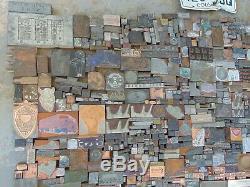 Énorme Idée De Table En Résine Époxy Lot De Blocs D'impression Vintage Vintage