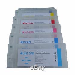 Epson Stylus Pro 10000/10600 Vide Cartouche Avec Puce Rechargeable 6pcs / Set