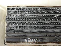 Garamond Italic 14 Type Imprimantes Type Métal Type Letterpress