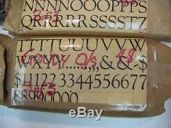 Goudy 48 Pt. Type Letterpress Métal Imprimantes Type
