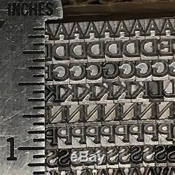 Goudy Light, Impression En Métal Au Plomb Type Typographique 12 Pt