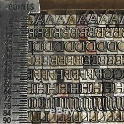 Goudy Oldstyle 12 Pt Atf 178 Type De Typographie Vintage Plomb De L'imprimante