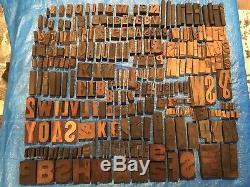 Grand Lot 276 Impression Antique Bois Typo Presse Type De Lettres Bloc Typeset