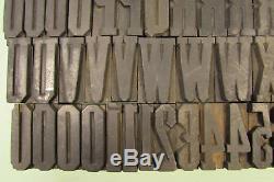 Grecque Typographique Condensé Blocs Bois Type 1-5 / 8 Pouces Majuscules