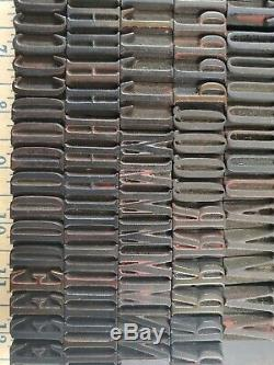 Hamilton Fancy Letterpress Type De Bois Woodtype 241 Pc. 5 Pica (13/16) Haut