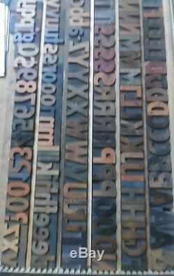 Hamilton Wood Type 10 Ligne 1.7 Impression Antique Vandercook Letterpress 125pcs