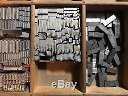 Huxley Vertical Letterpress Type Complet Atf 596 48 Pt 36 Pt 24 Pt 18 Pt