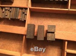 Impression Antique Bois Letterpress Type De Presse Lettres Bloc 61 Pc Blocs Composøes