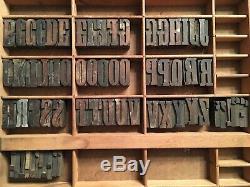 Impression Antique Bois Letterpress Type De Presse Lettres Bloc 66 Pc Blocs Composøes
