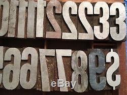 Impression Antique Bois Typo Presse Type De Lettres Bloc 24 Numéros Composøes Pc
