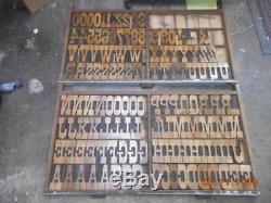 Impression De Bloc D'imprimante Typographique, Alphabet Tubbs Antique Large, Printer Cut