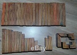 Impression Imprimante Typo Bloc Décoratif En Bois Ornements Border Cut Printer