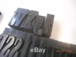 Impression Imprimante Typo Bloc En Bois Alphabet Avec Minuscules Antique