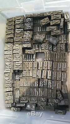 Impression Typographique Imprimantes Blocs, 1500pt Lettres Métal Anciennes + 3 Tiroirs