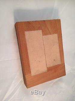 Imprimante À Impression Typographique Block Wood Metal Nouveau-mexique Santa Fe Ntl. Forêt