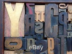Imprimantes À Lettres Typiques Wood Type MIX 49 Pieces