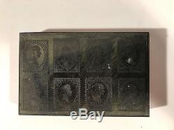 Le Timbre-poste Antique Des États-unis 1870 Meurent Le Plat D'impression De Cuivre Et En Bois