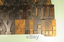 Le Type En Bois De Typographie Toscan Bloque La Ponctuation De Caps De 3-1 / 4 Pouces