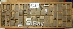 Letterpress Ludlow Espacement Matrice Variété + 22 Cas Llb81 #