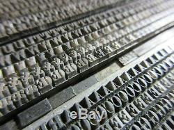 Letterpress Plomb Type 8 Pt. Old Style Antique No. 2 Boston Type Foundry D15