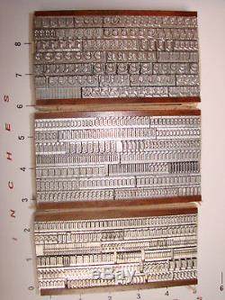 Letterpress Type 24 Pt. Goudy Text N'a Jamais Été Utilisé. Encore