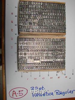 Letterpress Type 24 Pt. Helvetica Régulier