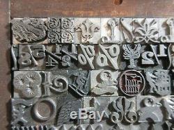 Letterpress Type 36 De Pt. Symboles, Décorateurs, Articles Divers, Etc. D38