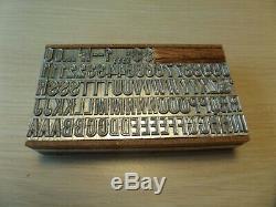 Letterpress Type De Métal