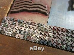 Letterpress Type Lead 144 Pt. 3 Couleur Drapeau Américain Atf + (324) 12 Pt. Étoiles