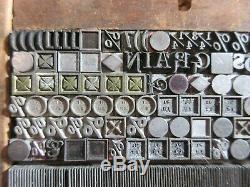 Letterpress Type Plomb 18 Et 24 Pt. Symboles, Décorateurs, Articles Divers, Etc. D43