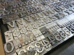 Letterpress Type Plomb 72 Pt. Rockwell Antique (caps, # 's, Punct.) C10
