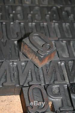 Letterpress Woodtype 8 Ligne 95 Pièces Clarendon