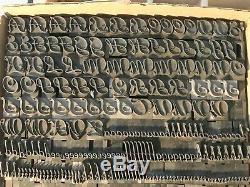 Liberty Script Letterpress Type 48 Pt