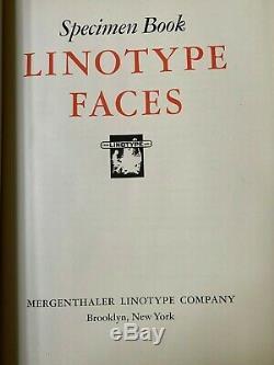 Linotype Échantillons Livre Et Supplément, 1948, Très Bon À Excellent, Meilleure Offre