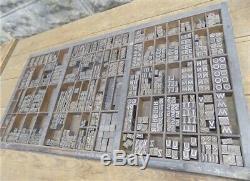Linotype Typo Blocs, Lettres D'impression, Numéros De Presse Type D'imprimante S
