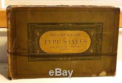 Livre Des Spécimens Des Types Typographiques Mergenthaler Linotype Company 1915