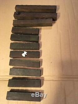 Lot 11 Pc Bois D'impression Typo Imprimantes Bloc D'ornement