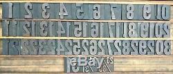 Lot 33 Vintage Typographie En Bois, Type Numéro De Bloc Calendrier Complet 2 3/4