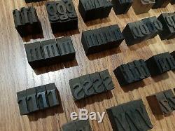 Lot 94 Antique 1 Bois Type D'impression Alphabet Blocs Typo Lettres Typeset