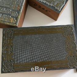Lot Letterpress Blocs Pins Mallet Wickersham 3 Disques Cam Quoin Avec Impression Clé