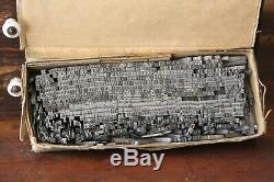 Lot Mixte Impression Vintage Presse Blocs Composøes Modèles Lettres Chiffres