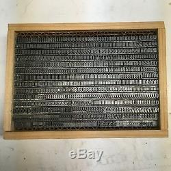 Lydian Bold Condensé 14 Pt Type Typographique Impression Vintage Trie La Police