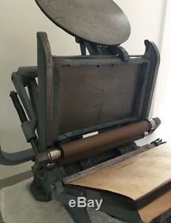 Machine D'impression Letterpress, Typographie De Table, Artisans Impériaux 5 X 8
