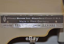 Machine Rare De Presse D'impression D'imprimante D'étiquette D'adresse De Pitney Bowes De Modèle Vintage 701