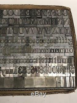 Métal Au Plomb De L'imprimante Vintage De Type Typographique Garamond 48 Pt