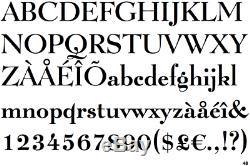 Métal Au Plomb Lucian Bold 12 Pt Letterpress Type D'imprimante Vintage