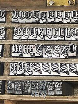 Métal Letterpress Type Alphabet Impression Lettre Presse