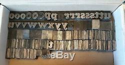 Métal Linotypée Typographiques Letters 72 Pt Cooper Black Polices Bb & S Chicago Rare