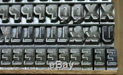 Nos 24pt Atf Gothic Shade Un 19ème Dickinson Tpfy. Conception. Type De Typographie